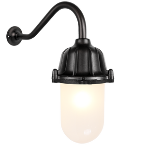 CAST SWAN NECK LANTERN FROSTED BLACK
