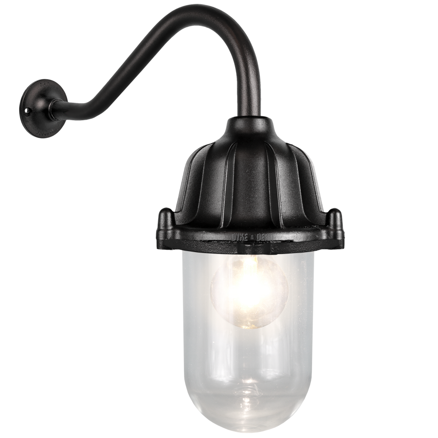 CAST SWAN NECK LANTERN BLACK