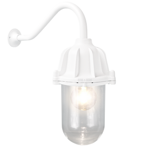 CAST SWAN NECK LANTERN WHITE