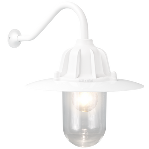 CAST SWAN NECK SHADED LANTERN WHITE - BATHROOM / OUTDOOR LIGHTS - DYKE & DEAN  - Homewares | Lighting | Modern Home Furnishings