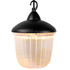 CAST LANTERN BLACK RIBBED CASE PENDANT
