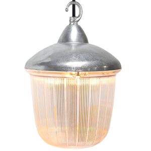 CAST LANTERN RIBBED CASE PENDANT