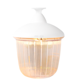 CAST LANTERN WHITE RIBBED CASE FIXED