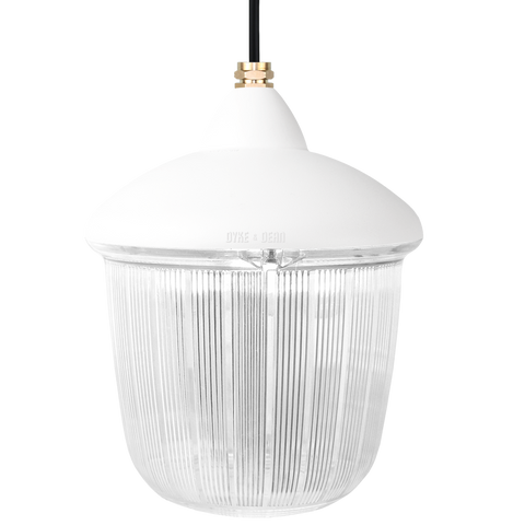 CAST LANTERN WHITE RIBBED CASE PENDANT - BATHROOM / OUTDOOR LIGHTS - DYKE & DEAN  - Homewares | Lighting | Modern Home Furnishings