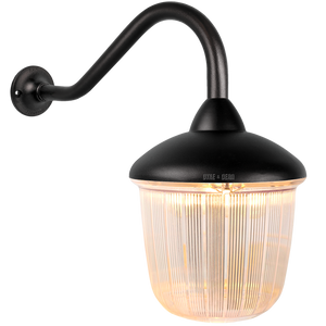 SWAN NECK LANTERN BLACK RIBBED CASE