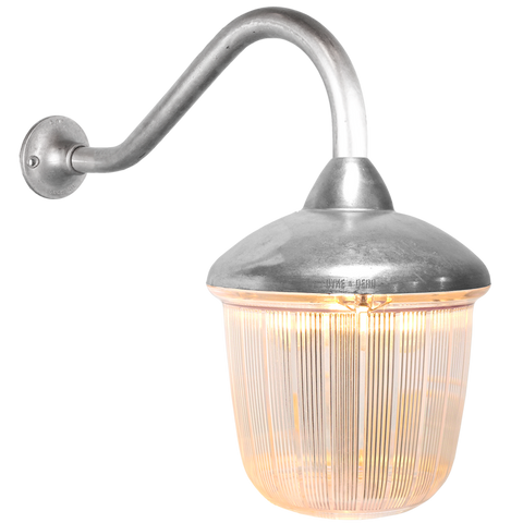 SWAN NECK LANTERN RIBBED CASE - BATHROOM / OUTDOOR LIGHTS - DYKE & DEAN  - Homewares | Lighting | Modern Home Furnishings