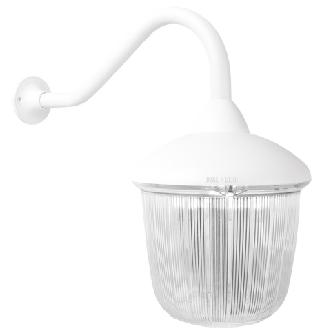 SWAN NECK LANTERN WHITE RIBBED CASE