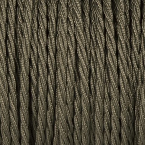 KHAKI GREEN TWISTED FABRIC CABLE - FABRIC CABLE - DYKE & DEAN  - Homewares | Lighting | Modern Home Furnishings