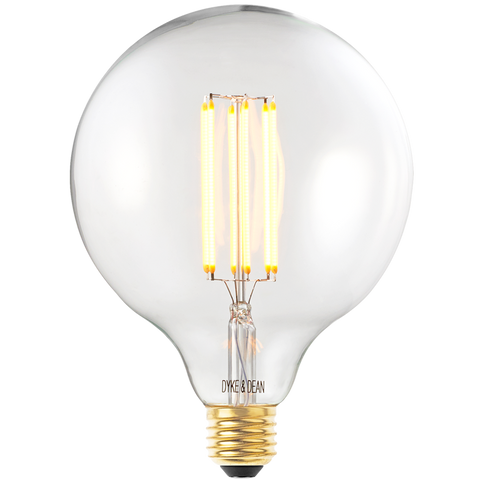 DYKE & DEAN LED CLEAR MEGA STYLE 125MM E27 BULB