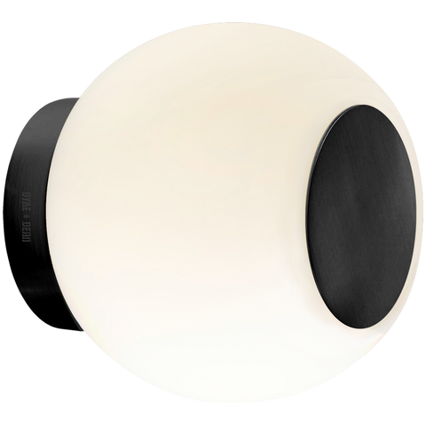 SPOT GLOBE LAMP BLACK BRASS METAL 140mm
