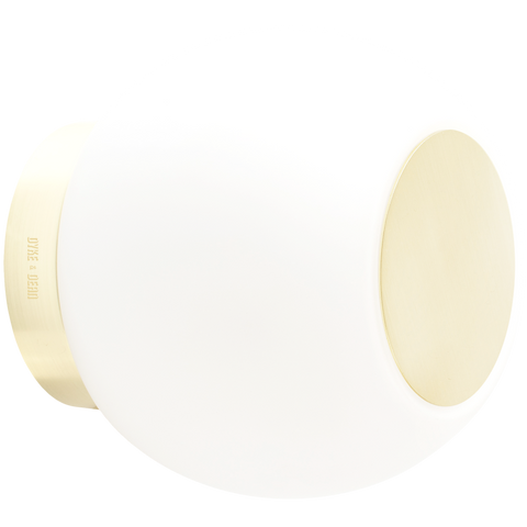 SPOT GLOBE LAMP BRASS METAL 140mm - BATHROOM / OUTDOOR LIGHTS - DYKE & DEAN  - Homewares | Lighting | Modern Home Furnishings