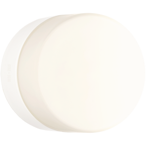 FLAT WHITE PORCELAIN WALL LIGHT IP54