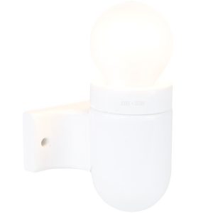 CERAMIC DROP ARM WALL FITTING WHITE