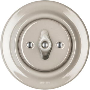 PORCELAIN WALL SWITCH CAPPUCCINO ROTARY
