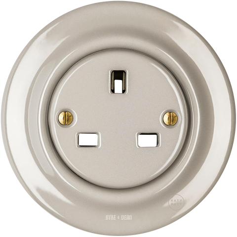 PORCELAIN WALL SOCKET CAPPUCCINO UK