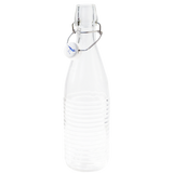 GLASS RIBBED FLIP TOP BOTTLE