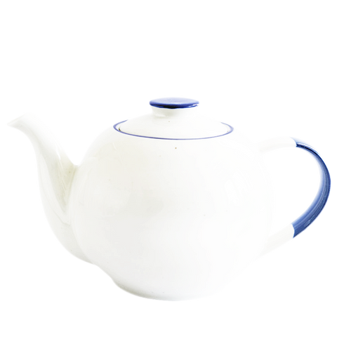PORCELAIN SPOTTED TEA POT