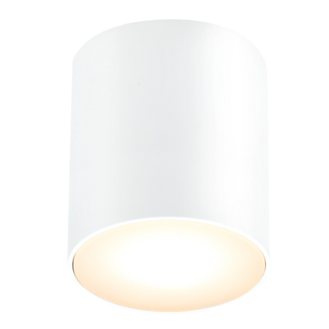 WHITE FIXED CYLINDER LIGHT IP54 - BATHROOM / OUTDOOR LIGHTS - DYKE & DEAN  - Homewares | Lighting | Modern Home Furnishings