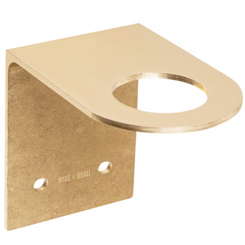 D&D SOAP PUMP WALL BRACKET BRASS