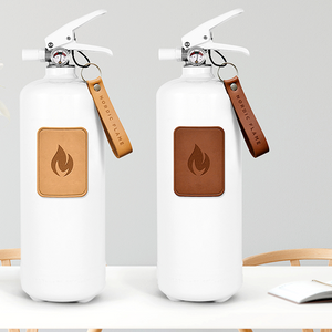 WHITE DARK LEATHER CLASSIC FIRE EXTINGUISHER