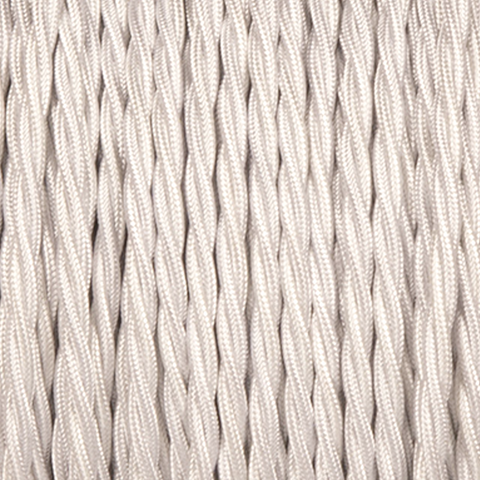 OFF WHITE FABRIC CABLE - FABRIC CABLE - DYKE & DEAN  - Homewares | Lighting | Modern Home Furnishings