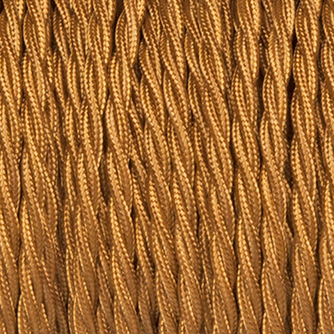OLD GOLD TWISTED FABRIC CABLE - FABRIC CABLE - DYKE & DEAN  - Homewares | Lighting | Modern Home Furnishings
