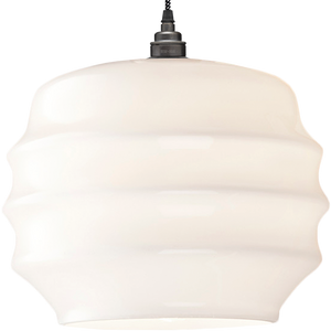 RIPPLE OPALINE PENDANT SHADE LARGE