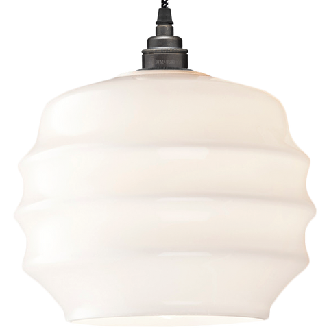 RIPPLE OPALINE PENDANT SHADE MEDIUM - GLASS PENDANTS - DYKE & DEAN  - Homewares | Lighting | Modern Home Furnishings