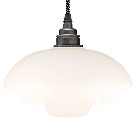DECO OPALINE GLASS LAMP SHADE - GLASS PENDANTS - DYKE & DEAN  - Homewares | Lighting | Modern Home Furnishings