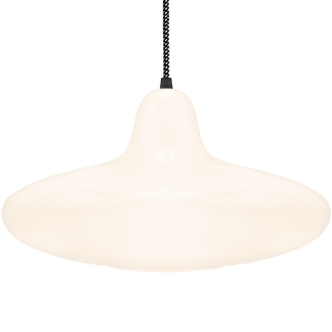 90s OPALINE GLASS PENDANT SHADE