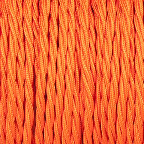 ORANGE TWISTED FABRIC CABLE - FABRIC CABLE - DYKE & DEAN  - Homewares | Lighting | Modern Home Furnishings