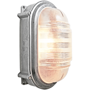 LARGE CAST OVAL BULKHEAD LAMP