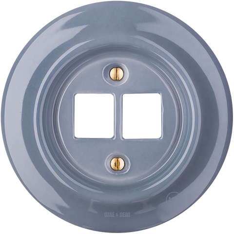 PORCELAIN WALL SOCKET ASH GREY PC/USB
