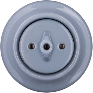 PORCELAIN WALL SWITCH ASH GREY ROTARY