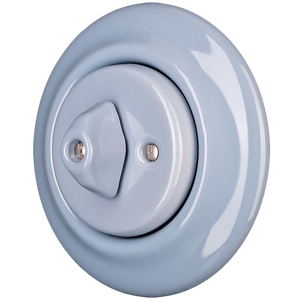 PORCELAIN WALL LIGHT SWITCH ASH GREY ROTARY