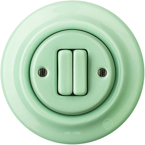 PORCELAIN WALL SWITCH MINT DOUBLE