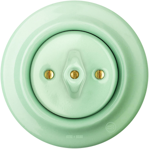 PORCELAIN WALL SWITCH MINT ROTARY