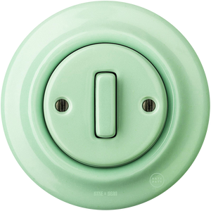 PORCELAIN WALL SWITCH MINT SLIM BUTTON