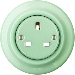 PORCELAIN WALL SOCKET MINT UK