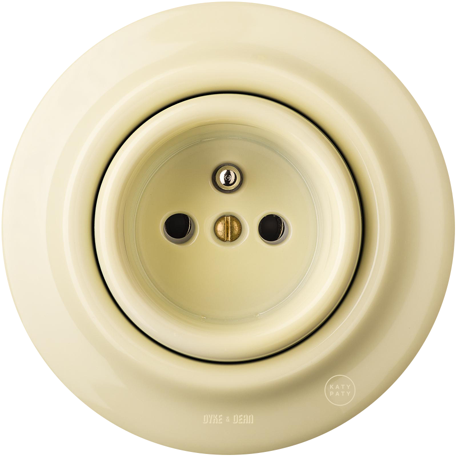 PORCELAIN WALL SOCKET VANILLA