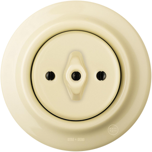 PORCELAIN WALL SWITCH VANILLA ROTARY