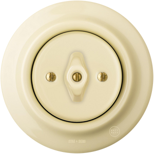 PORCELAIN WALL LIGHT SWITCH VANILLA ROTARY