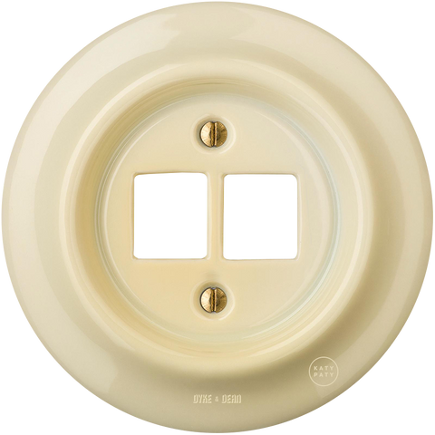 PORCELAIN WALL SOCKET VANILLA PC/USB