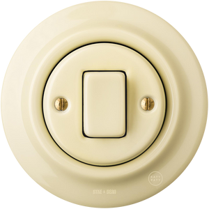 PORCELAIN WALL SWITCH VANILLA FAT BUTTON