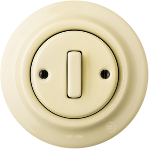 PORCELAIN WALL SWITCH VANILLA SLIM BUTTON