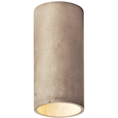 CONCRETE CYLINDER CEILING LIGHT BROWN