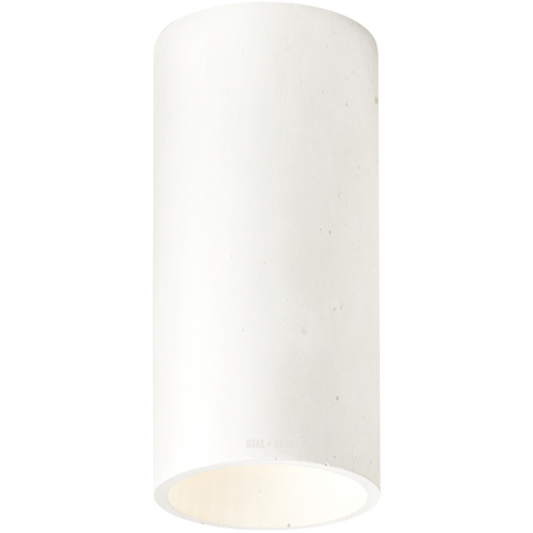 CONCRETE CYLINDER CEILING LIGHT IVORY