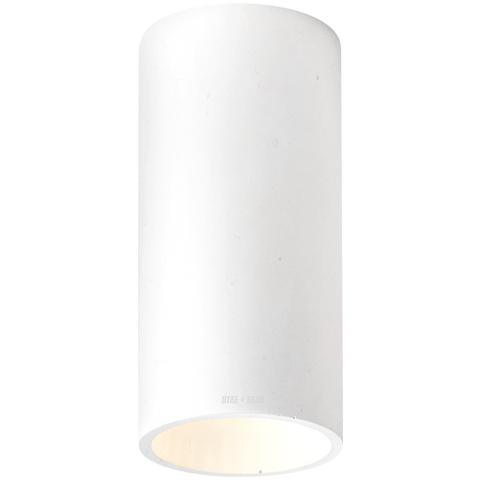 CONCRETE CYLINDER CEILING LIGHT GREY