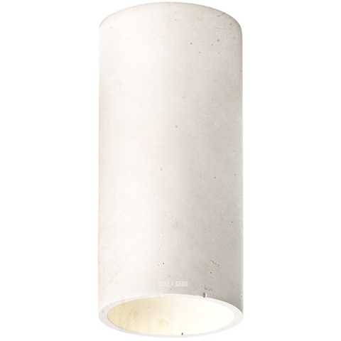 CONCRETE CYLINDER CEILING LIGHT DOVE GREY