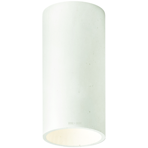 CONCRETE CYLINDER CEILING LIGHT SAGE GREEN